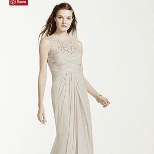 Plum Bridesmaid Dress with Lace
